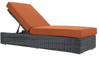 Modway Summon Outdoor Patio Sunbrella Chaise Lounge Canvas Tuscan