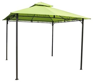 10'x10' Weather Resistant Gazebo With Lime Green Canopy