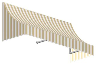 7' Nantucket Window/Entry Awning Linen/White