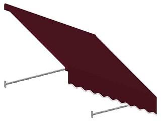 6' Santa Fe Twisted Rope Arm Window/Entry Awning Burgundy