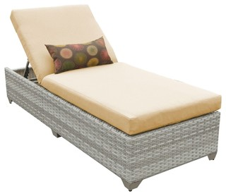 Fairmont Chaise Outdoor Wicker Patio Furniture Sesame