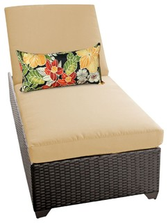 Classic Chaise Outdoor Wicker Patio Furniture Sesame