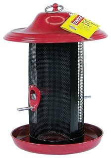 Stokes Select Red Rock Twin Chamber Bird Feeder Red