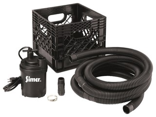 Simer FP0S2600RP Flow N'Stow Multipurpose Utility Pump Kit 1/4 Hp 2200 GPH