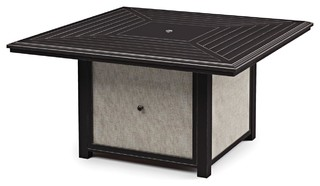 Town Court Outdoor Round Fire Pit Table in Brown P436-772