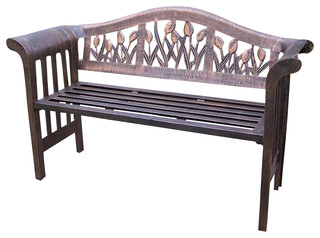 Royal Bench in Antique Bronze - Tulip