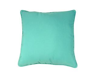 """Sunbrella Solid 18""""x18"""" Pillow Aruba Indoor Outdoor"""