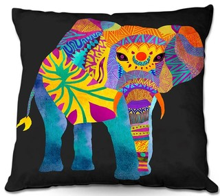 DiaNoche Outdoor Pillows Whimsical Elephant II