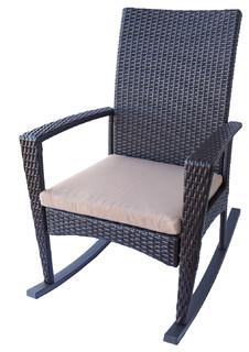Outdoor Wicker Rocking Chair Tan