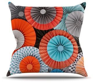 "Heidi Jennings ""Breaking Free"" Orange Blue Throw Pillow Outdoor 18""x18"""