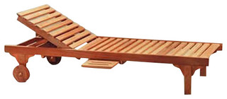 Anderson Teak Sl 071 Capri Sun Lounger Adjusted Back and Side Tray