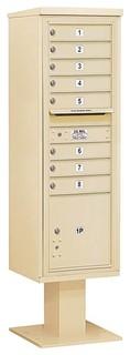 4C Pedestal Mailbox With 8 Mb1 Doors Sandstone