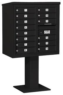 Mailbox With Pedestal Black