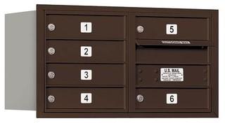 Rear Loading Horizontal Mailbox Bronze