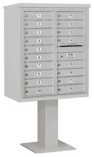 Mailbox With Pedestal Base Gray
