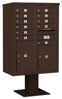Mailbox and Pedestal Base Bronze