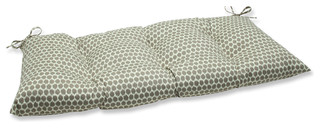 Seeing Spots Wrought Iron Loveseat Cushion Sterling