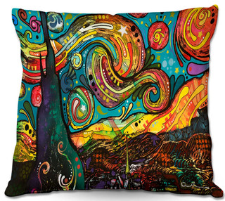 DiaNoche Outdoor Pillows by Dean Russo Starry Night