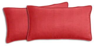 Sunbrella Volt Cherry Lumbar Pillow Set