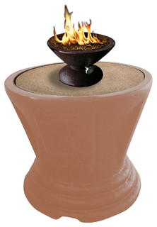 Sculptured Bistro Gas/Propane Fire Pit Table Sunset Gold