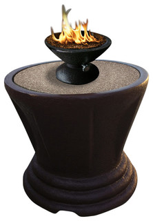 Sculptured Bistro Gas/Propane Fire Pit Table Pebble