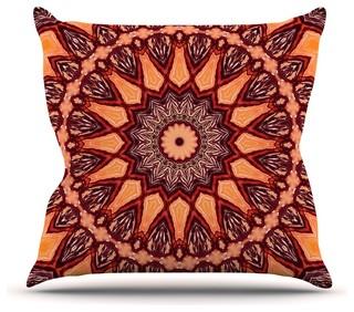 "Iris Lehnhardt ""Colors of Africa"" Brown Orange Throw Pillow 16""x16"""