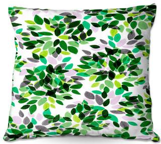 DiaNoche Outdoor Pillows by Julia Di Sano Dahlia Dots IV