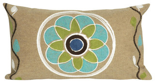 Visions II Maroma Linen Pillow Beige 12x20