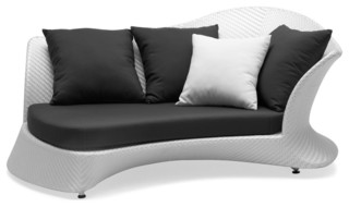 Java Antique Rivage Day Bed Right Grey and White Cushion