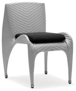 Black Rivage Dining Chair Sunbrella Black Cushion