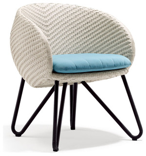 Khaki Circle Dining Chair Sand Cushion