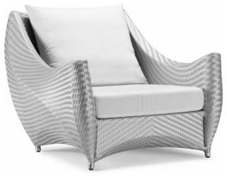 Gray Peak Chair White and Gray Cushion