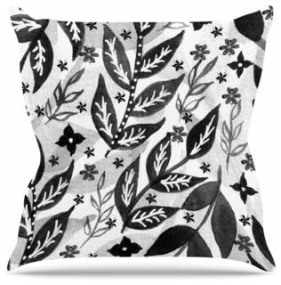 "Li Zamperini ""Black Foliage"" Throw Pillow 20""x20"""