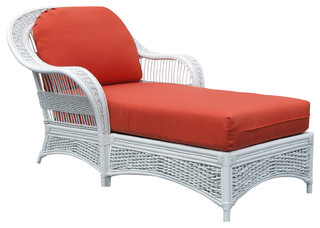 Regatta Chaise Lounge in White Somerset Mist Fabric