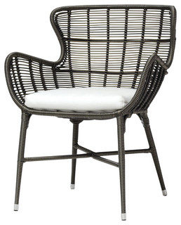 Lacey Modern Classic Espresso Outdoor Chair