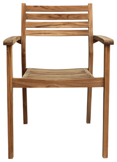 Sylvan Teak Dining Arm Chair - No Cushions