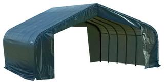 22'x24'x12' Peak Style Shelter Gray