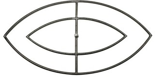 """NG 12""""x42"""" Stainless Steel Fish Eye Double Burner"""