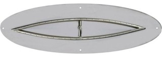 """NG 8""""x48"""" Oval Stainless Steel Flat-pan with 6""""x42"""" Fish Eye Burner"""
