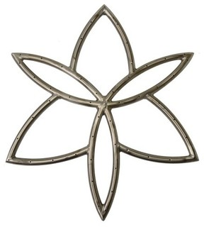 "NG 36"" Stainless Steel Lotus Burner"