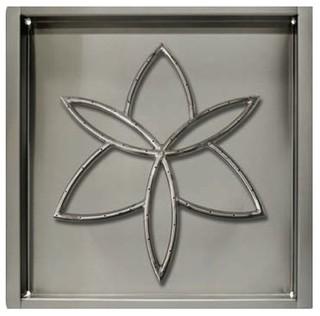 "NG 32"" Sq. Drop-in Pan and 24""x24"" Lotus Flower Burner w/ ELEC System"