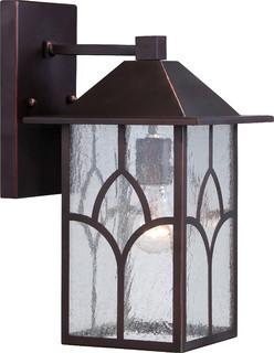 Nuvo 1-Light Incandescent Claret Bronze Stanton Outdoor Light Fixture