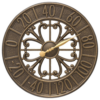 "Villanova 21"" Indoor Outdoor Wall Thermometer"