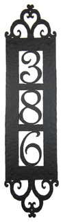 Spanish Style Hammered Iron Vertical Address Plaque 3 Number Apv13 #3 Black