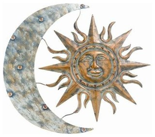 Aztec Sun And Moon Wall Art