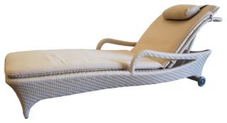 Exotica Lounge Chair White/Beige