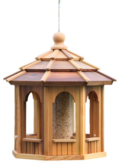 Cedar 8 Sided Birdfeeders Octagonal