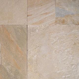"Golden White Hardscaping Pavers Quartzite 12""x12"" Sawn Edge 10 Sq. ft."