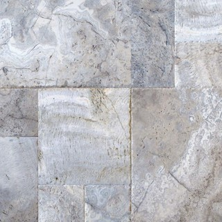 "Silver Travertine Hardscaping Pavers Travertine Honed 8""x8"" 10 Pieces"