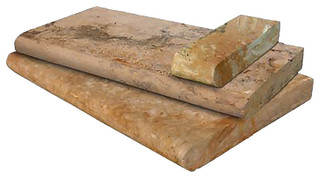 "Tuscany Porcini 5 cm. Pool Copings Travertine Bull Nosed 4""x12"" 30 Pieces"